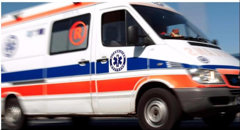 Wypadki i kolizje, Wypadek kolizja Skaratkach Kompinie - zdjęcie, fotografia